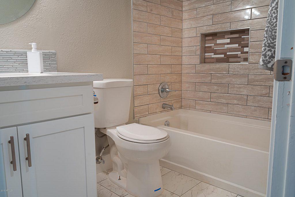completed bathroom in shrewsbury