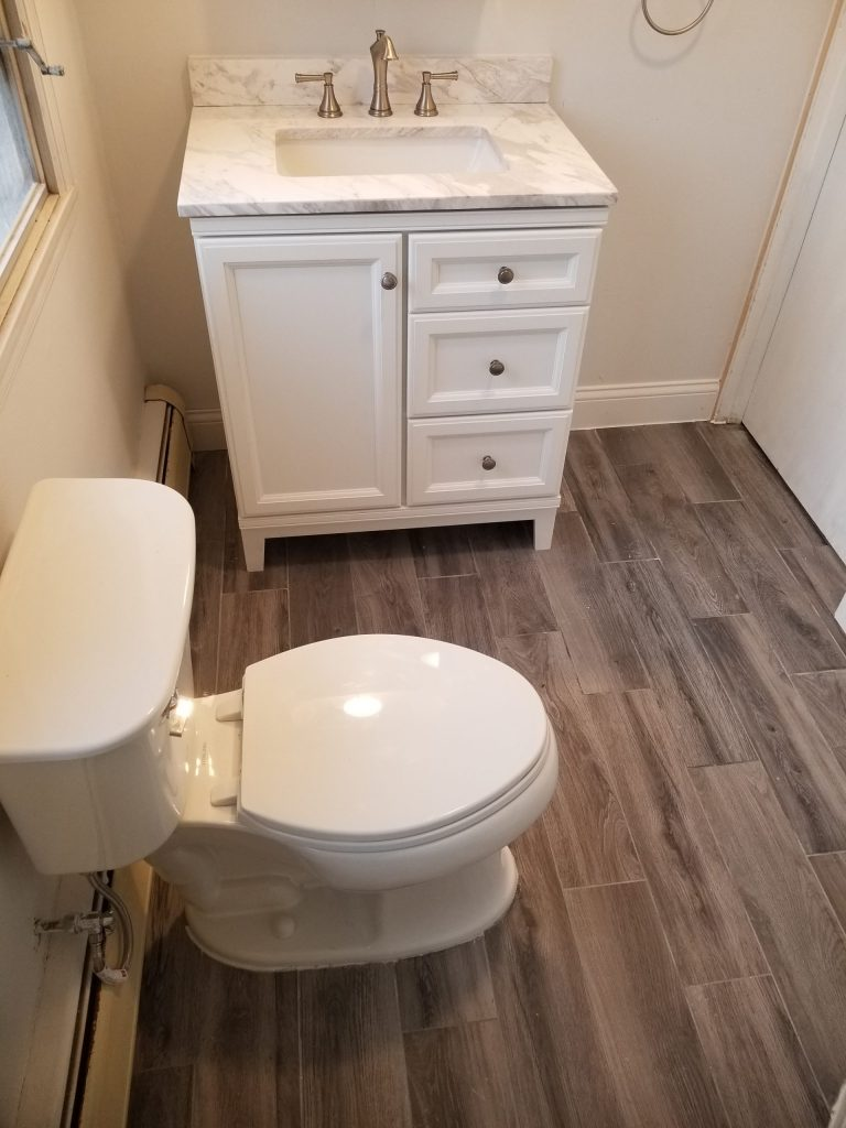 completed bathroom project in st. louis